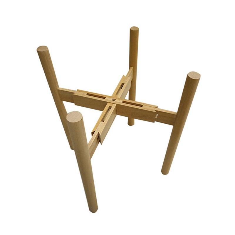 Adjustable Stand Holder Rack Wooden Sturdy For Flower Potted Indoor Outdoor HUG-Deals