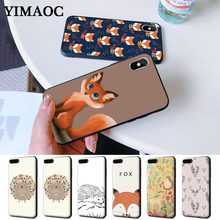 Lovely Deer Cartoon Animals Fox Hedgehog Silicone Case for iPhone 5 5S 6 6S Plus 7 8 X XS Max XR
