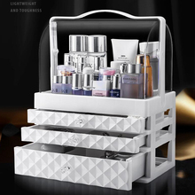 Portable Drawer Type Cosmetics Storage Box Dressing table Skin Care Product Stor