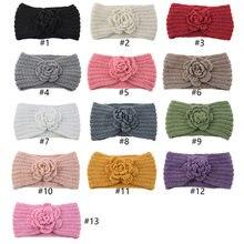 Цветок вышивка цветы плетенная повязка для головы осень зима