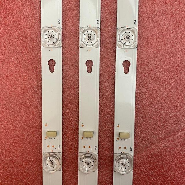 3 PCS LED Backlight Strip for Thomson 43UC6306 43UC6406 TCL 43S303 43S305 43DP608 D43A810 TOT_43D2900_3X8 OEM43LB06_LED3030F2.1