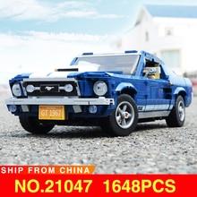 цены Forded Mustanged Compatible 10265 LegoEDS Creator Expert Technic Car Model Kit Building Blocks Educational Bricks DIY Kids Toys