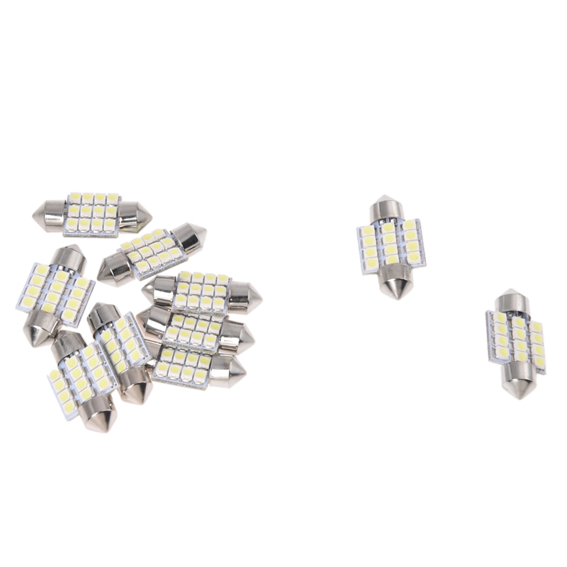 10 Order Bulbs Torpedo Lights 12 LED SMD White 31MM
