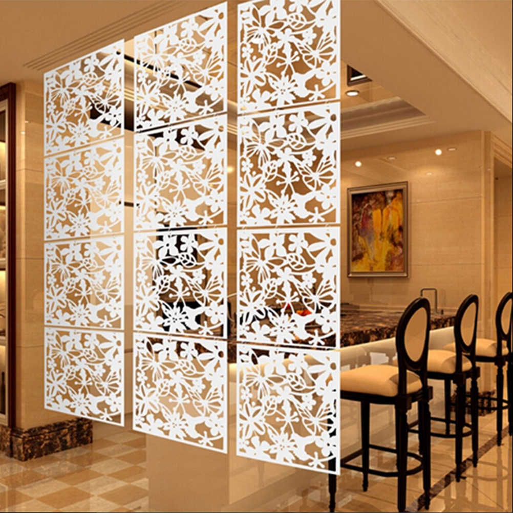 1Pc White/Black/Red Fashion Butterfly Bird Flower Hanging Screen Partition Divider Panel Room Curtain Home Decoration
