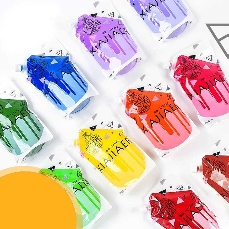 Creative DIY hand-painted wall paint waterproof colorfast art painting supplies 1L bag acrylic paint