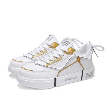 Mężczyźni trampki moda mężczyźni obuwie oddychające buty męskie buty do chodzenia męskie tenisowe czarne tenisówki męskie trampki tanie i dobre opinie ICCLEK CN (pochodzenie) RUBBER Lace-up Pasuje prawda na wymiar weź swój normalny rozmiar Oksfordzie Mieszane kolory Wodoodporna