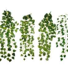 2 метра искусственная гирлянда из листьев плюща растения Лоза Листва Цветы для дома и сада вечерние стены моделирования украшения 6 моделей поставки