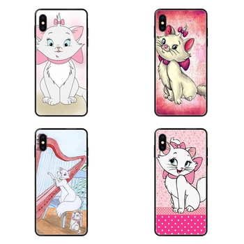 Black Soft TPU Print Cover Case Aristocats Marie For Redmi 3S 4X 4A 5 5A 6 6A 7 7A 8 8A 8T 9 9A K20 K30 S2 Y2 Pro Plus Ultra image