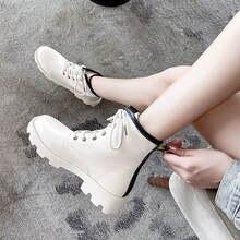 Модные теплые плюшевые зимние ботинки женская обувь из искусственной