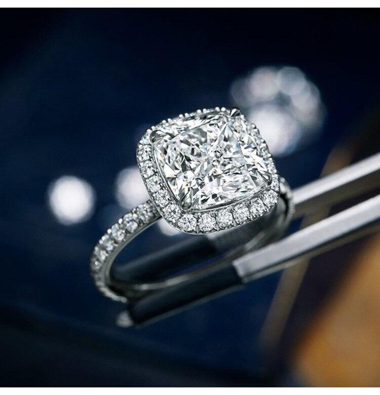 S925 Sterling Silber Jewerly Reale Natürliche Diamant Ring für Frauen Feine Anillos De Bizuteria Anillos Mujer Diamant Edelstein Ring