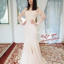 Романтическое Модное шифоновое платье с длинными рукавами; vestido de novia Casamento; кружевное платье невесты; ; платья для матери невесты