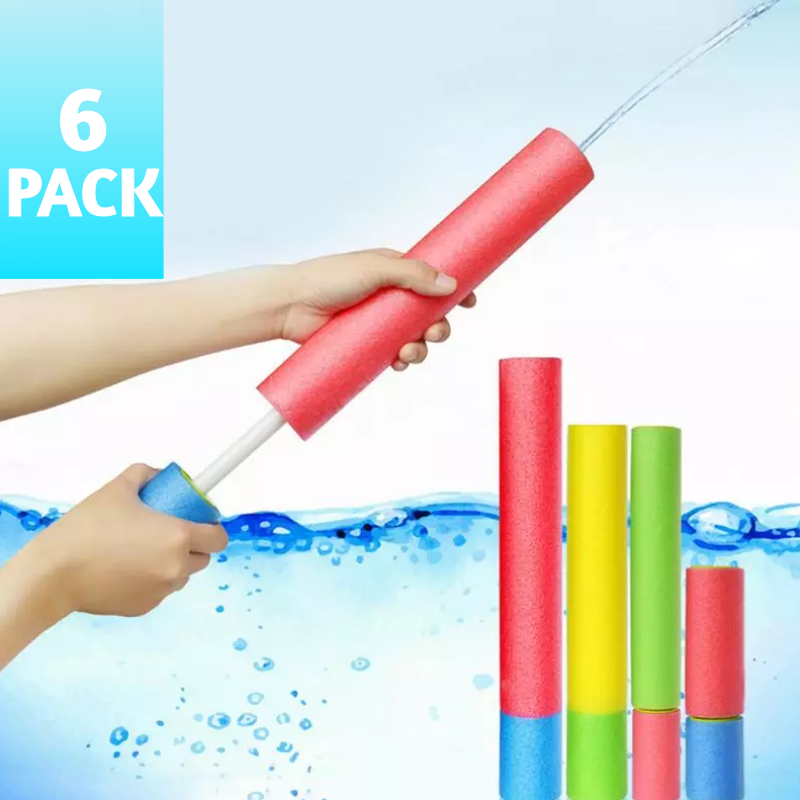 6 Pack Foam Water Blaster Set Pool Toys Water Guns For Kids Water Gun Blaster Shooter Swimming Pool Outdoor Beach Play Game Toy