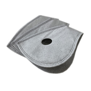 5 Layers Non Woven Half Face Mask Filter for Cycling Bike Mask Anti-pollution Dust Pm 2.5 Air Filter Activated Carbon Filters