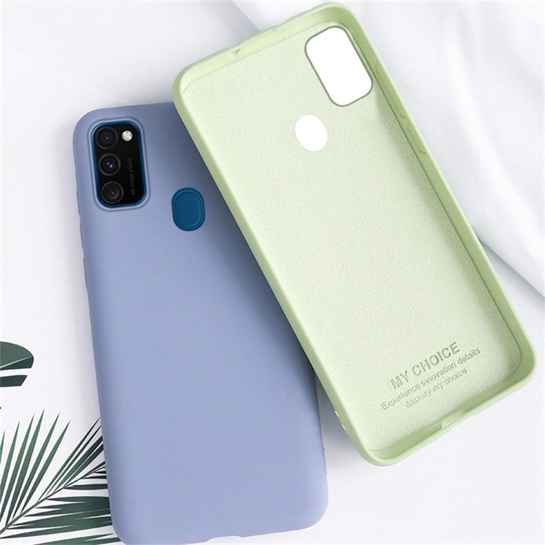 Candy Case For Samsung Galaxy M21 Case Solid Color Liquid Phone Case For Samsung M21 M31 M30S A31 A51 A71 A50 Cover Galaxy M21