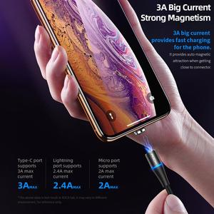 Image 4 - ROCK 3A Magnetic Cable for iPhone 12 Mini 12 11 Pro Max SE Samsung Fast Charge QC 3.0 Micro USB Type C Magnet Phone Charge Cable