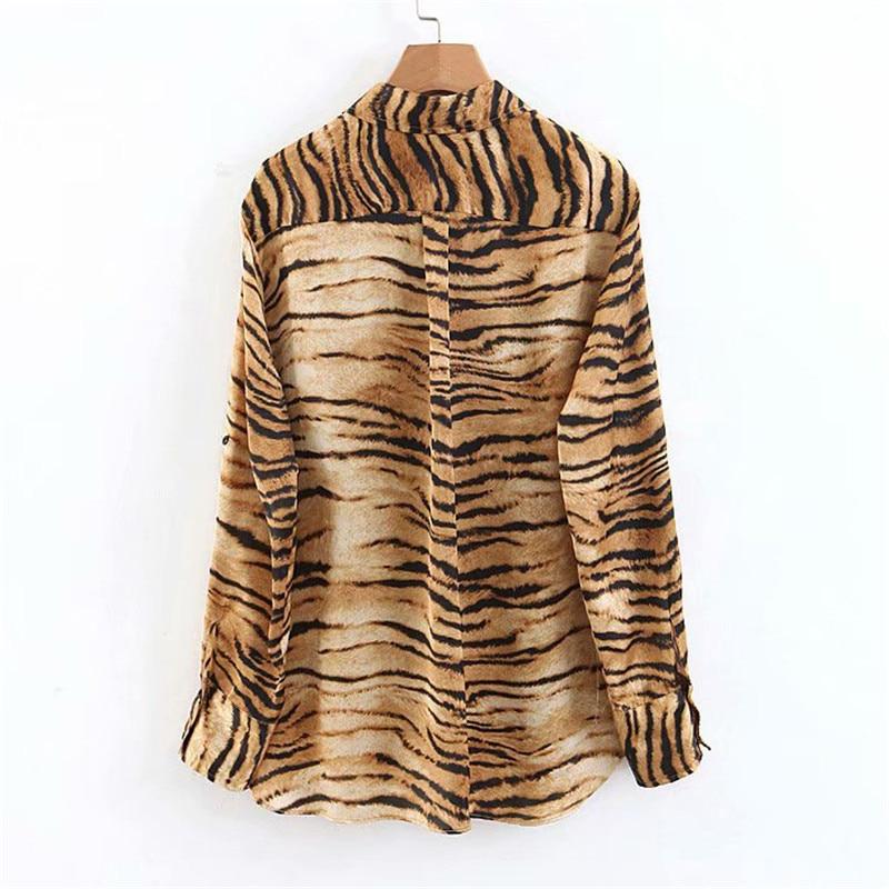 tiger print women blouse 1