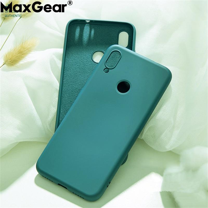 Liquid Silicone Case For Xiaomi Mi 9T 9 SE 8 Lite A2 MIX 2 3 2S 6X Mi9t Original Soft-Touch Cover Redmi Note 7 6 8 Pro 6A 7A K20(China)