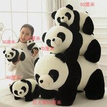 Cute Baby Big Giant Panda Bear Plush Stuffed Animal Doll Animals Toy Pillow Cartoon Kawaii Dolls Girls Lover Gifts WJ151