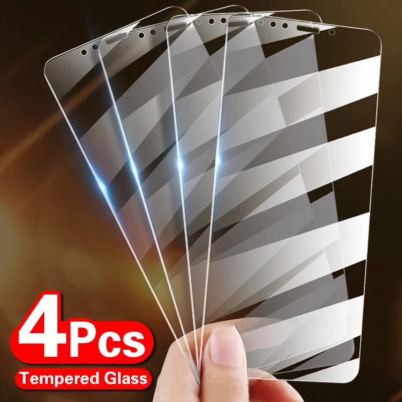 4Pcs Gehard Glas Op De Voor Iphone 12 7 8 6 Plus Screen Protector Voor Iphone X Xs Xr 11 12 Pro Max 12 Mini Beschermende Glas 1