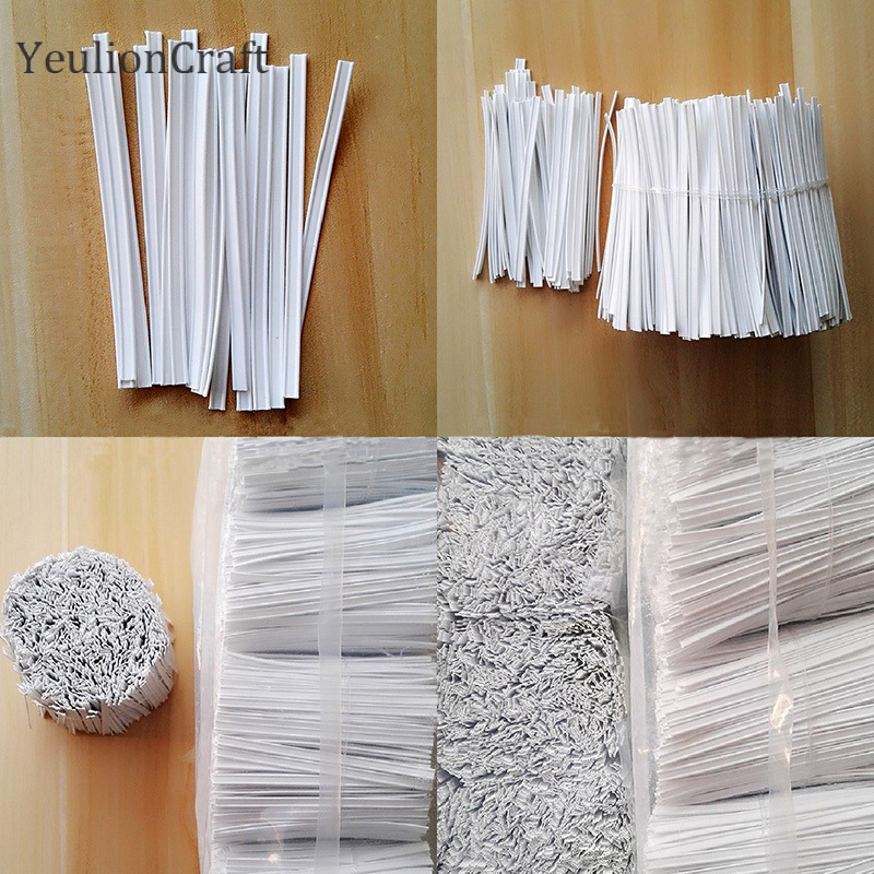 YeulionCraft 100Pcs Plastic Elastic Bands Cord Nose Bridge Clips Adjustable Flat Elastic Nose Wire Strips Diy Sewing Crafts