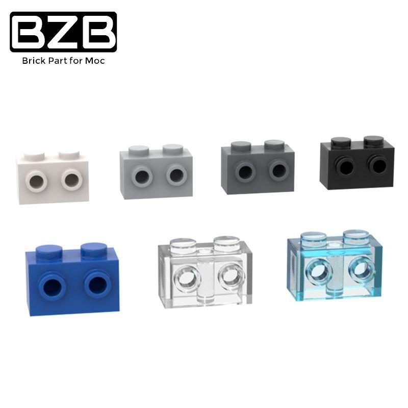 BZB MOC DIY 10 шт. детали 11211 кирпичи специальные 1x2 шпильки на 1 стороне модель строительные блоки DIY Развивающие высокотехнологичные запасные дет...