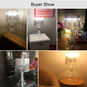 Image 4 - אקריליק מנורת שולחן ליד מיטת גביש מנורת Led שולחן מנורת Lamparas De Mesa Para El Dormitorio Tafellamp סלון חדר שינה מנורה e27