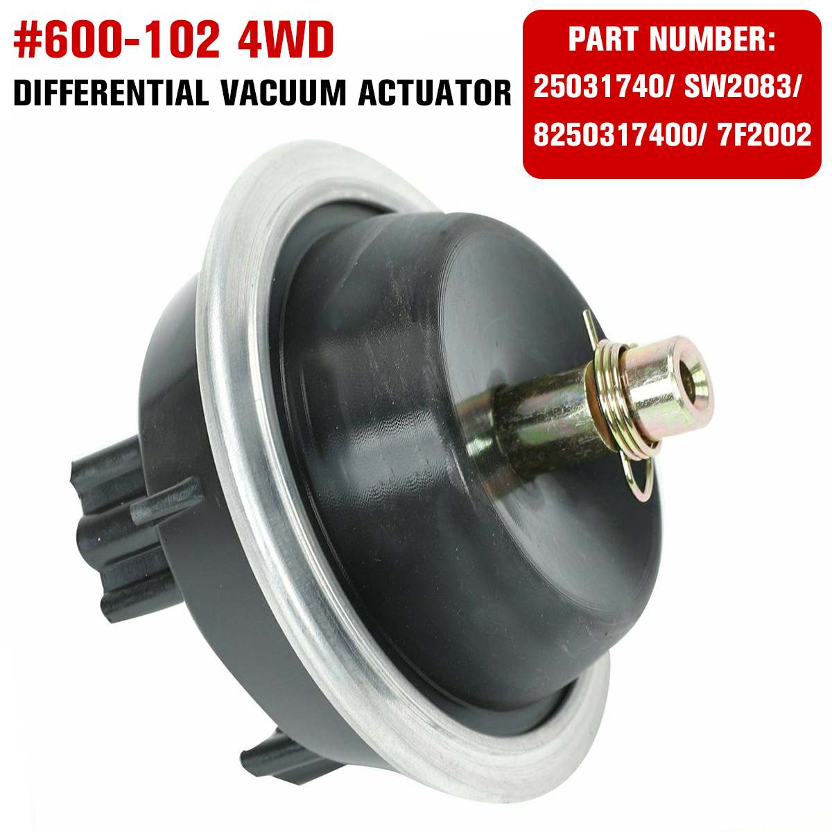 NEW Professional 600-102 4WD Differential Vacuum Actuator For Chevrolet For GMC For Pontiac 1983-2005 25031740