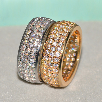 Anillo joya de oro amarillo de 14 K para mujer, joyas de compromiso de plata 1,5 con gema de diamante Natural de 925 quilates para mujer
