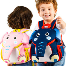Cute 3D Elephant School Bags Blue Pink Color for Boys Girls Waterproof Light Kindergarten Kids Backpacks Child Best Gift