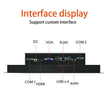 19 Inch Industrial tablet touch screen panel pc with RS232 LAN option wifi 4G GPS
