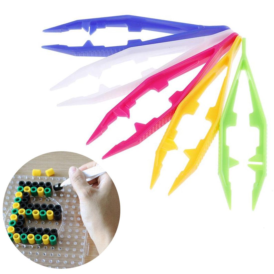 1 Pcs Funny Durable Children Kids Tools Tweezers Kids' Craft For Perler Bead New Design Random Color