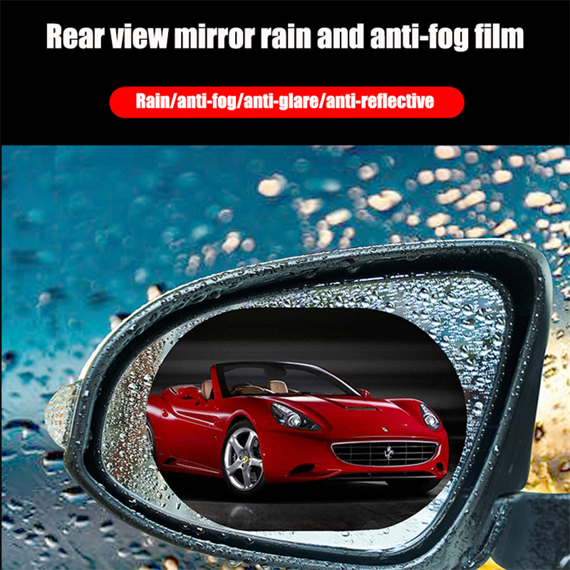 2 Pcs/Set Car Mirror Window Clear Film Anti Fog Car Rearview Mirror Protective Film Waterproof Car Rearview Mirror Waterproof