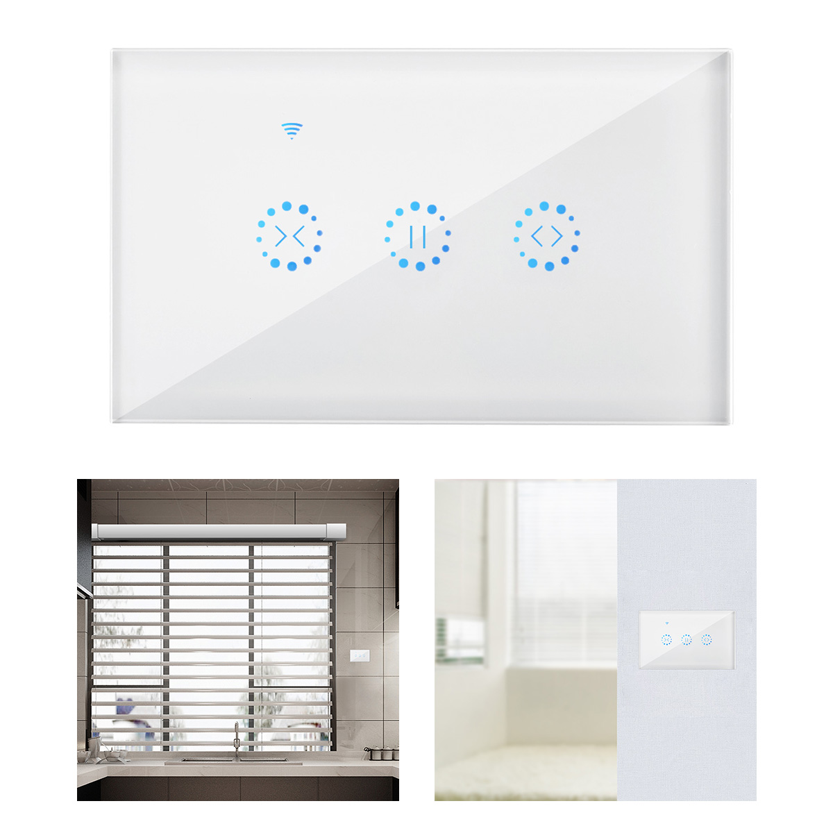 EU/US WiFi Roller Shutter Touch Curtain Switch For Electric Motorized Blinds With Remote Control Google Home Aelxa Echo