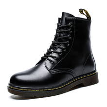 2019 Mens Boots Women Genuine Leather Shoes for Winter Woman Casual Female Ankle Botas Mujer