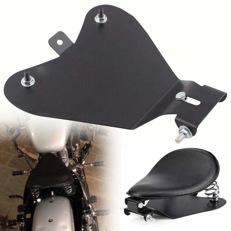 Motorcycle Solo Seat Spring Bracket Mounting Base Plate Fit For Harley Sportster XL 883 1200 Chopper Bobber Custom Cruiser