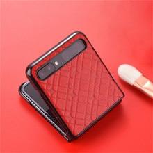 부드러운 가죽 전화 케이스 삼성 갤럭시 Z 플립 휴대 전화 Acessories f7000 접이식 스크린 홀스터 쉘 보호 커버