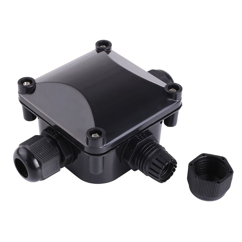 10 PCS New Style 3-Way Junction Box IP 68 Waterproof Connectors for Outdoor Lighting External Junction Box Cable and Wire