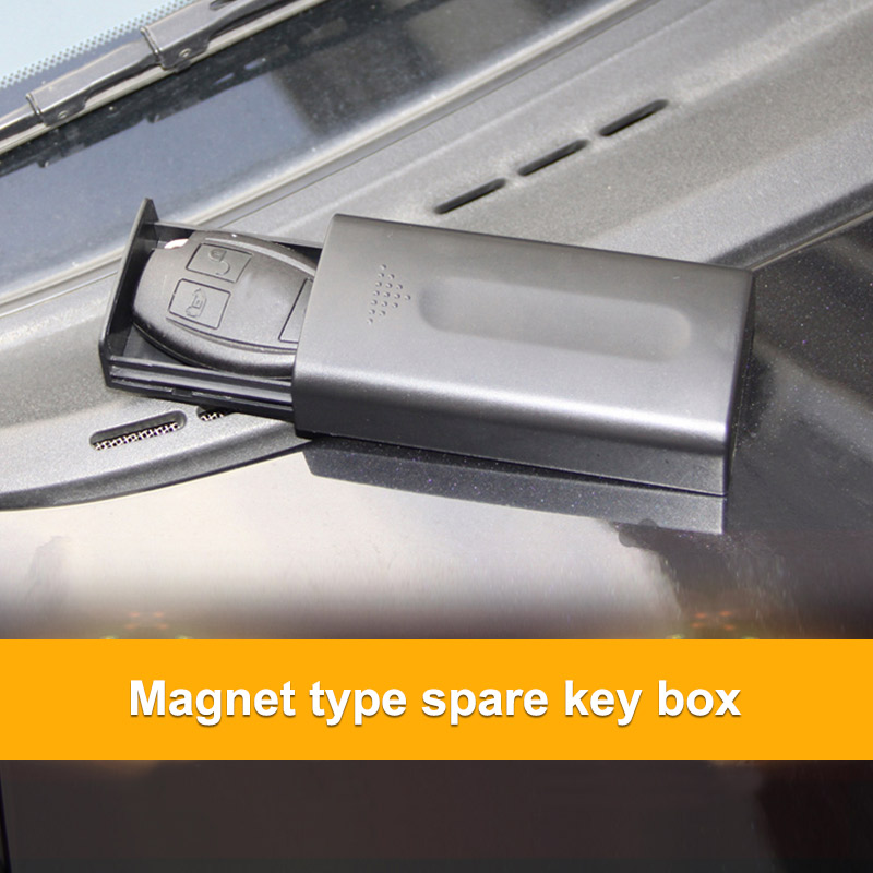 Powerful Magnet Key Box Hidden Car Memo Key Car Chassis Spare Portable Safe Key Storage Car Outdoor Secret Box Plastic Black