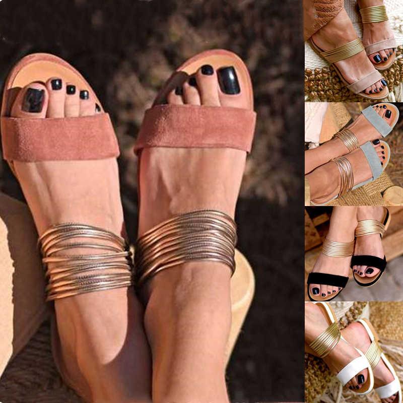 Phụ Nữ La Mã Giày Sandal Mùa Hè Mới Nóng Retro Nêm Võ Sĩ Giác Đấu Chống Trơn Trượt Dép Nữ Đảng Giày Công Sở Đi Biển Cho Trượt