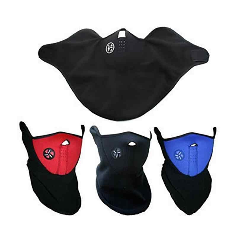 Warme Fleece Fiets Half Gezichtsmasker Cover Gezicht Kap Bescherming Fietsen Ski Sport Outdoor Winter Neck Guard Sjaal Warm Masker hot # ED