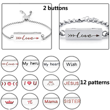 цена на 316 stainless steel Lotus and love Horizontal Bar diffuser bracelet for Women