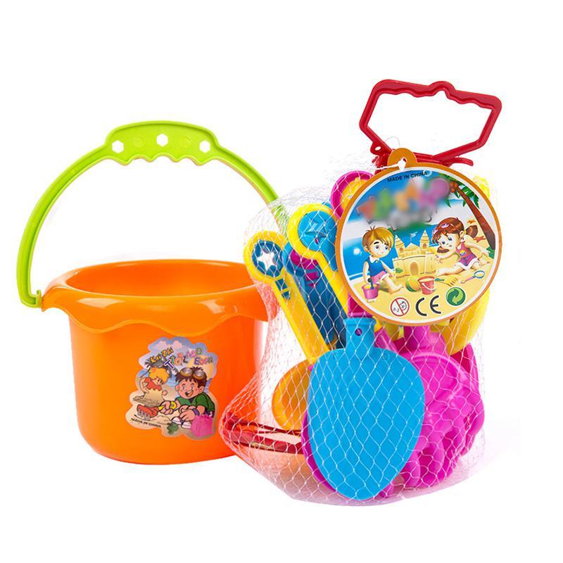 Kuulee 9PCS Children Beach Sand Toy Set Outdoor Toys Combination High Quality Child Interesting Toys Beach Barrel Plastic