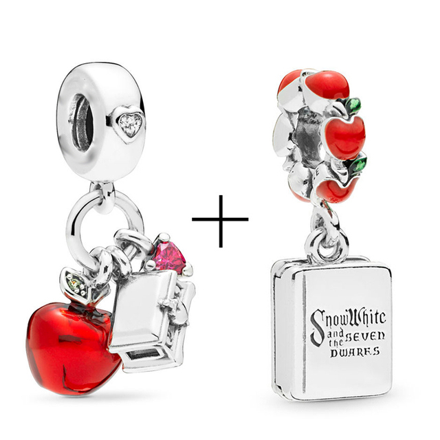2Pcs/lot Special Offer Red Lucky Cat & Mickey Beads Charms Fit Pandora Bracelet & Necklaces For Women Jewelry Making Accessories