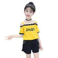 Girls Clothes Set Summer Children Outfits Fashion Off Shoulder Letter Tops & Shorts Suits 2Pcs Kids Baby Girl Clothing Tracksuit girls boutique outfits children clothing set winter 2018 fashion little girls clothing sets baby girl suits warm kids clothes