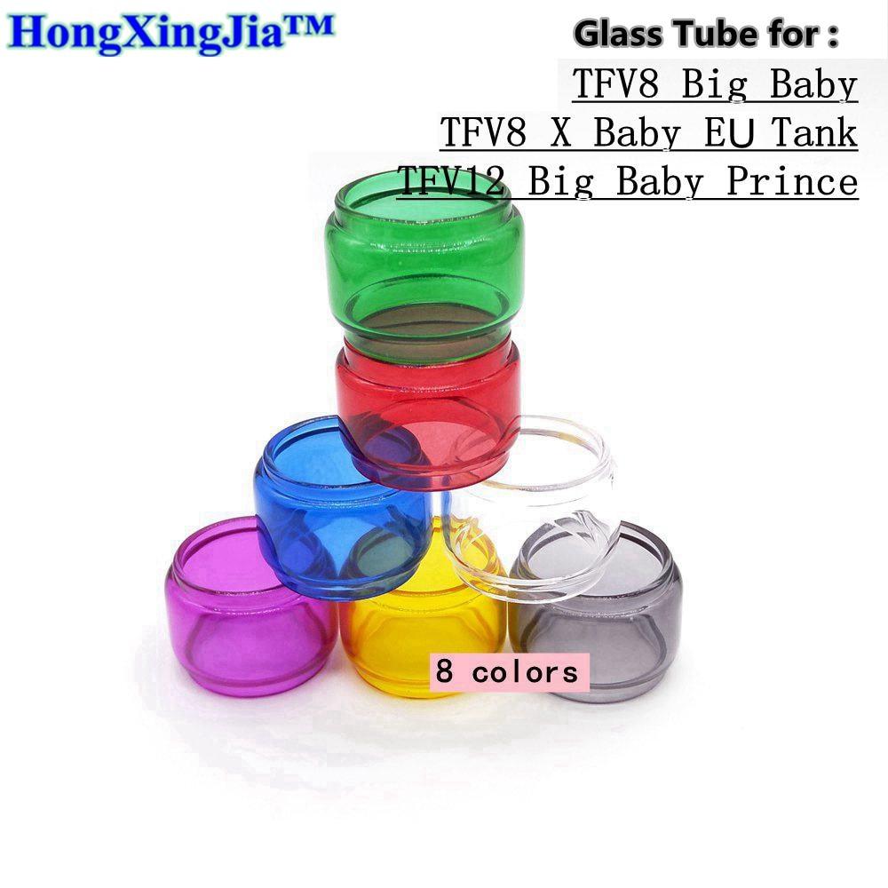 Many Colors Expansion Bulb Fatboy Glass Tube Tank For SMOK TFV12 Big Baby Prince TFV8 Big Baby TFV8 X Baby EU Tank Atomizer