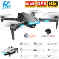 Drone quadricottero S106 RC con videocamera Hd 8K GPS Anti perso a lunga distanza 5G WiFi FPV Brushless Smart segui Drones Professional