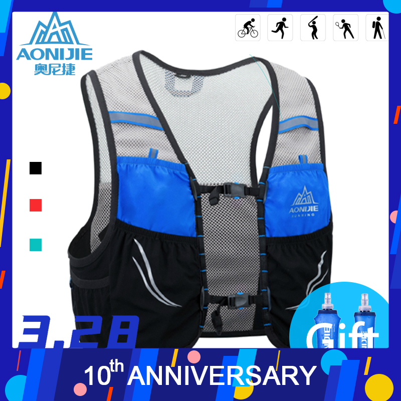 Running Hydration Pack Backpack Rucksack Bag Vest Harness Water Bladder Hiking Camping Marathon Race Climbing 2.5L AONIJIE C932