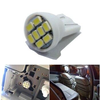 4000pcs  White Car Interior LED T10 8 SMD W5W 168 Wedge Door Instrument Side Bulb Lamp reading bulbs Car Light Source 12V