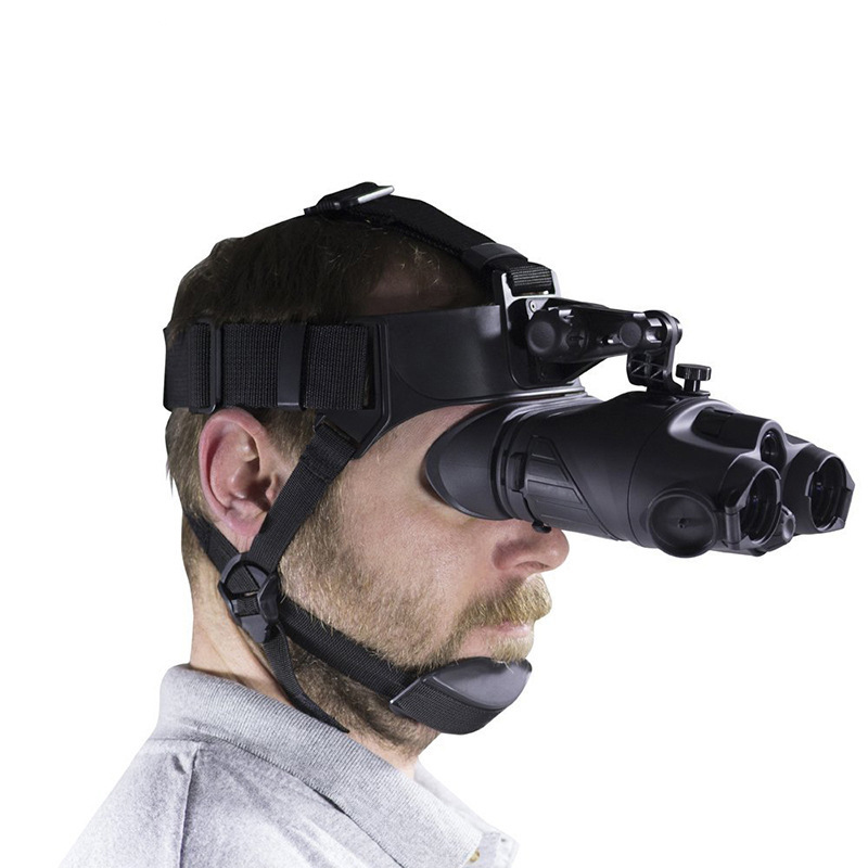 1X24 Helmet mounted High Definition Infrared Dual barrel Night Vision for Hunting Patrol Security Night Infrared Telescope in Night Visions from Sports Entertainment
