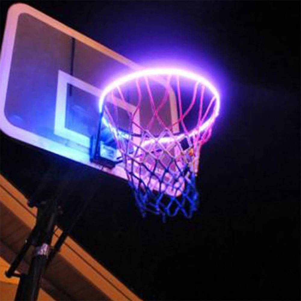 Creative Basketball Box LED Light Basketball Hoop Chandelier Solar Ball Frame Light Changing Luminous Lamp Dropshipping